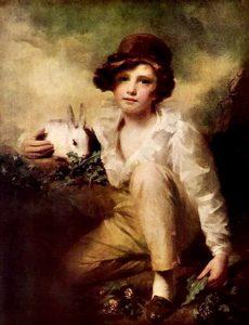 Boy and Rabbit by Henry Raeburn Inglis, 1814